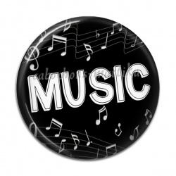 Cabochon Résine - music