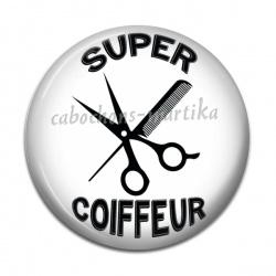 Cabochon Résine - super coiffeur