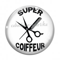 Cabochon Verre - super coiffeur
