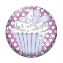 Cabochon Verre - cup cake