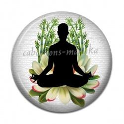Cabochon Résine - méditation