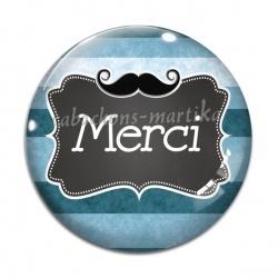 Cabochon Verre - merci