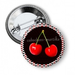 Badge - cerise