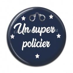 Cabochon Résine - un super policier