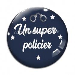 Cabochon Verre - un super policier