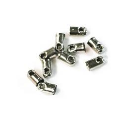 10 fermoirs pour cordon métal argenté