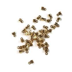 50 Cache noeud doré 6 x 2,5 mm