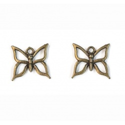 breloques papillon métal bronze