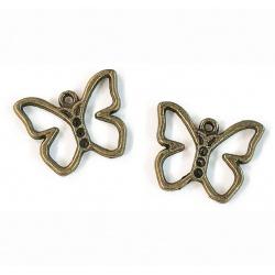 breloque papillon bronze