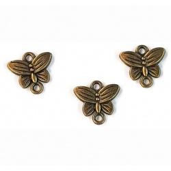 breloque papillon métal