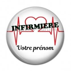 Cabochon Résine - infirmière personnalisable