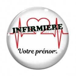 Cabochon Verre - infirmière personnalisable
