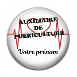 Cabochon Résine - auxiliaire de puéricultrice personnalisable