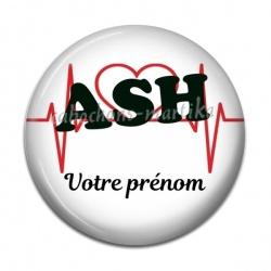 Cabochon Résine - ASH voter prénom