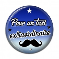 Cabochon Résine - Pour un taxi extraordinaire