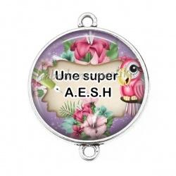 Connecteur Cabochon Argent - une super AESH