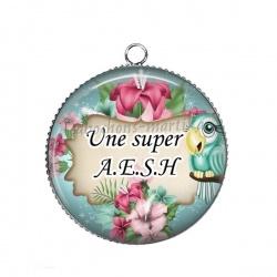 Pendentif Cabochon Argent - une super AESH