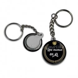 Porte clés - une maman en or