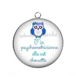 Pendentif Cabochon Argent - psychomotricienne