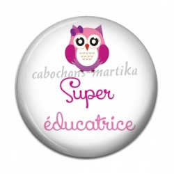 Cabochon Résine - super éducatrice