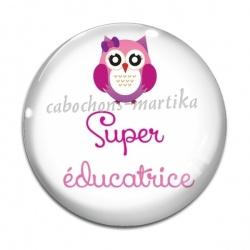 Cabochon Verre - super éducatrice