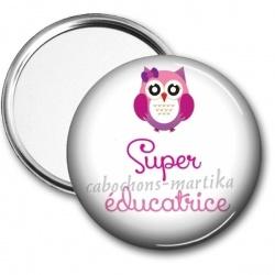 Miroir de poche - super éducatrice