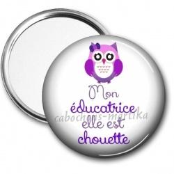 Miroir de poche - mon éducatrice elle est chouette