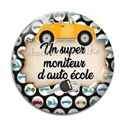 Cabochon Verre - un super moniteur d'auto école