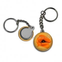 Porte clés - coquelicot