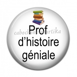 Cabochon Résine - prof d'histoire géniale