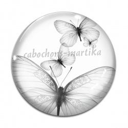 Cabochon Verre - papillon