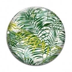 Cabochon Verre - palmier