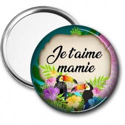 Miroir de poche - je t'aime mamie