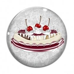 Cabochon Verre - gâteau