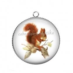 Pendentif Cabochon Argent - écureuil