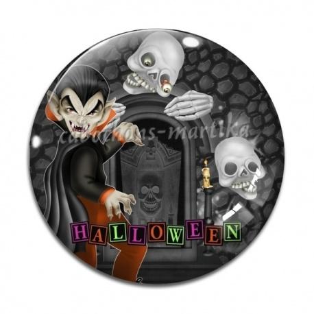 Cabochon Verre -  halloween