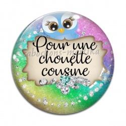 Cabochon Verre - pour une chouette cousine