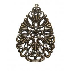 1 Grande estampe filigrame métal bronze