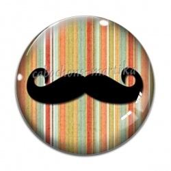 Cabochon Verre - moustache