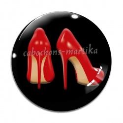 Cabochon Verre - chaussure