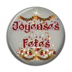 Cabochon Résine - Joyeuses fêtes