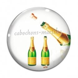 Cabochon Verre - Bonne année