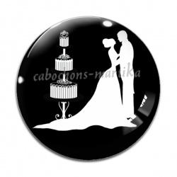 Cabochon Verre - mariage