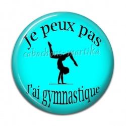 Cabochon Résine - je peux pas j'ai gymnastique