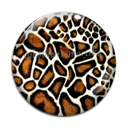 Cabochon Verre - peau animal
