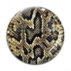 Cabochon Verre - peau animal