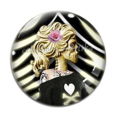 Cabochon Verre - femme gothique