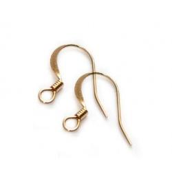 20 Supports boucles d'oreilles couleur doré 15 mm