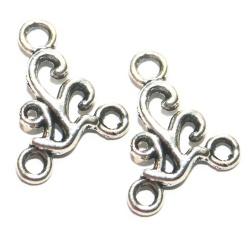 connecteurs chandeliers métal argenté