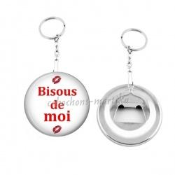 Porte clés décapsuleur - bisous de moi